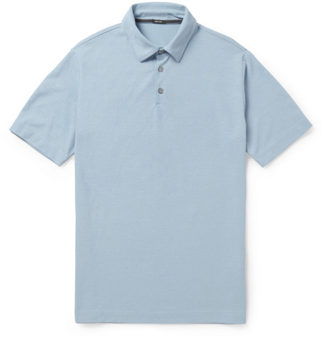 Incotex Zanone Cotton-Jersey Polo Shirt