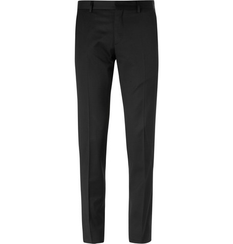 AMI Slim-Fit Wool Trousers