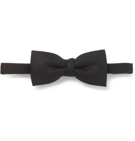 AMI Wool-Flannel Bow Tie