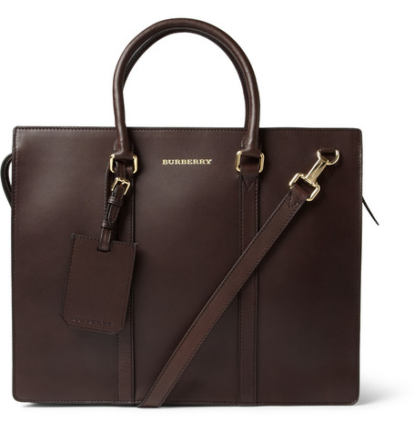 Burberry Shoes & Accessories Structured Leather Briefcase