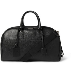 Burberry Shoes & Accessories Textured-Leather Holdall Bag