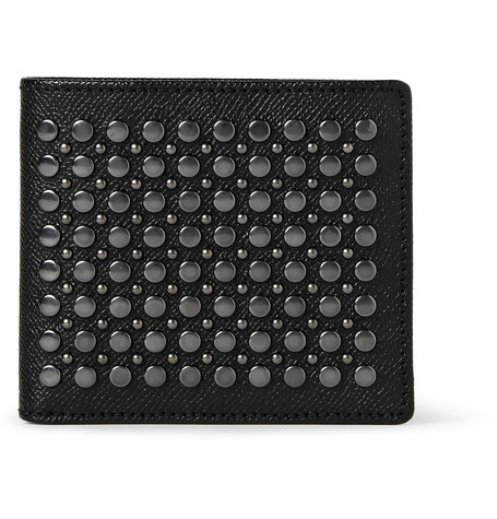 Burberry Shoes & Accessories Studded Cross-Grain Leather Billfold Wallet