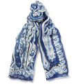 Etro Paisley Linen and Silk-Blend Scarf