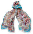 Etro - Paisley-Print Linen and Silk-Blend Scarf