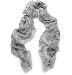 Etro Paisley-Print Lightweight Modal and Linen-Blend Scarf