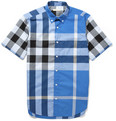 Burberry Brit - Button-Down Collar Check Cotton Shirt