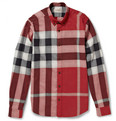 Burberry Brit Button-Down Collar Check Cotton-Flannel Shirt