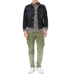 Burberry Brit Slim-Fit Floral Cotton Shirt