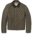 Burberry Brit - Corduroy-Collar Quilted Jacket