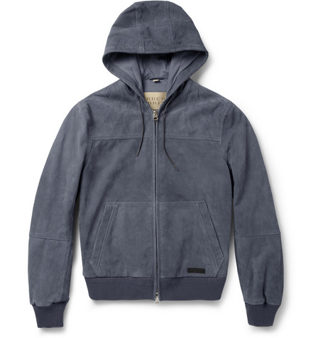 Burberry Brit Hooded Suede Jacket