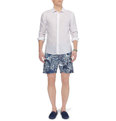 Etro Printed Mid-Length Swim Shorts
