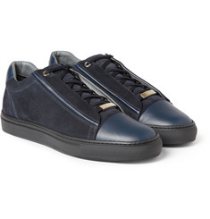 Brioni Slam Suede and Leather Sneakers