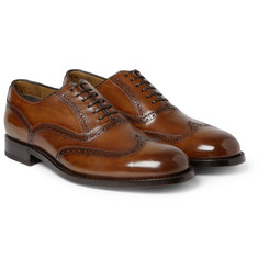 Brioni Polished-Leather Oxford Brogues