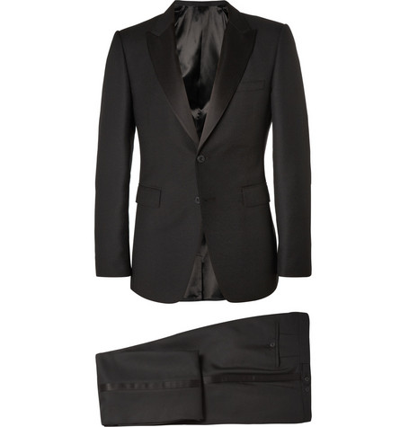 Burberry London Black Slim-Fit Wool-Blend Crepe Tuxedo