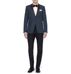 Burberry London Slim-Fit Textured Wool-Blend Tuxedo Blazer