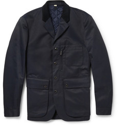 Burberry London Cotton-Blend Field Jacket with Detachable Lining