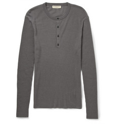 Burberry London Ribbed Cashmere Henley T-Shirt