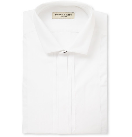 Burberry London White Woven-Cotton Shirt