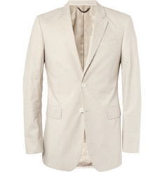 Burberry London Stone Slim-Fit Cotton Blazer
