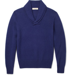 Burberry London Shawl-Collar Cashmere-Blend Sweater