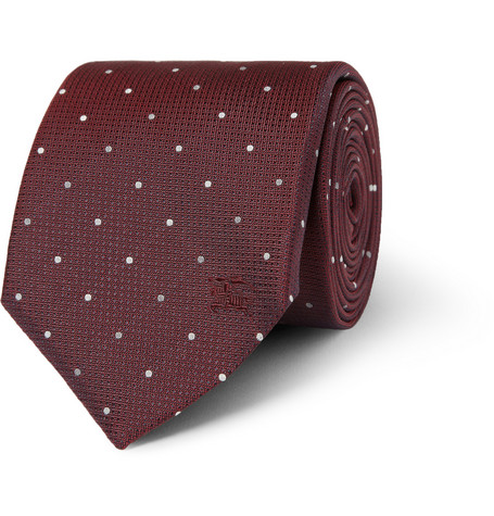 Burberry London Spotted Woven-Silk Tie