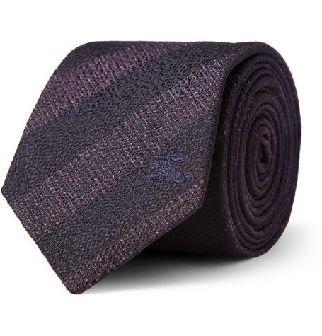 Burberry London Striped Woven-Silk Tie