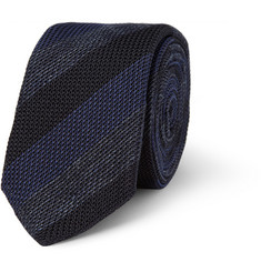 Burberry London Knitted Cotton and Silk-Blend Tie