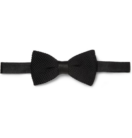 Burberry London Knitted Silk Bow Tie