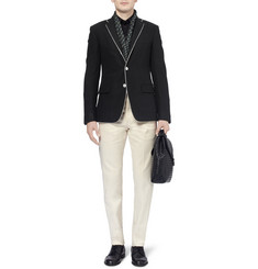 Bottega Veneta Slim-Fit Brushed Wool and Angora-Blend Blazer