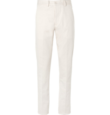 Bottega Veneta Tapered Cotton-Blend Twill Chinos
