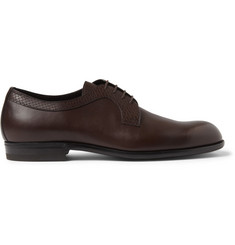 Bottega Veneta Embossed-Panel Leather Derby Shoes