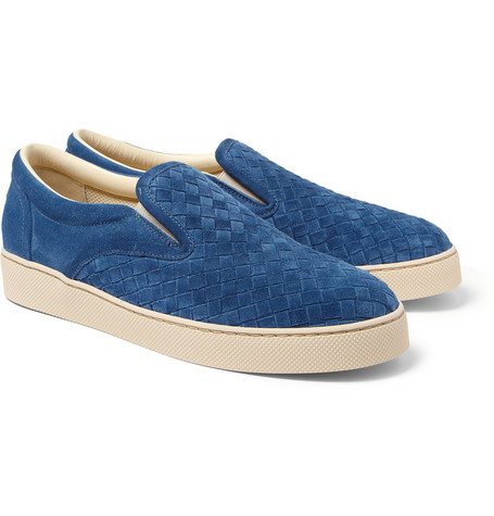 Bottega Veneta Intreciatto Suede Slip-On Sneakers