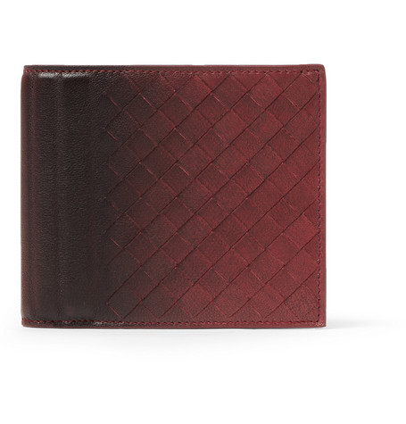 Bottega Veneta Burnished Intrecciato Leather Billfold Wallet