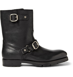 Jimmy Choo Stanford Leather Biker Boots