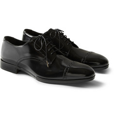 Jimmy Choo Prescott Patent-Leather Derby Shoes