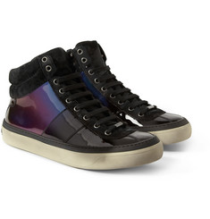 Jimmy Choo Belgravia Patent-Leather Sneakers