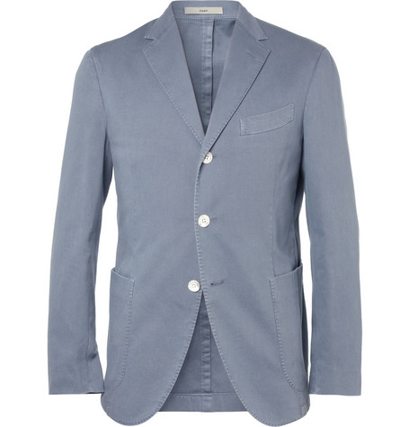Boglioli Slim-Fit Unstructured Cotton-Blend Piqué Suit Jacket