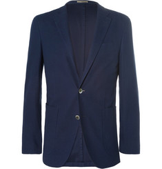 Boglioli Dover Slim-Fit Unstructured Cotton-Piqué Blazer