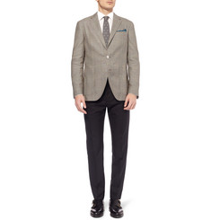Boglioli Dover Unstructured Prince of Wales Check Cotton and Silk-Blend Blazer