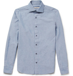Boglioli Slim-Fit Washed Cotton-Chambray Shirt