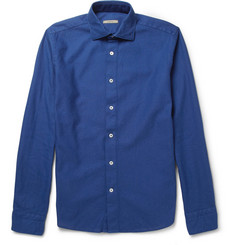 Boglioli Slim-Fit Cotton-Honeycomb Shirt