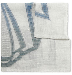 Boglioli Embroidered Fine Cotton-Blend Pocket Square