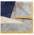 Boglioli Printed Fine Silk Pocket Square