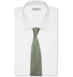 Boglioli Striped Knitted-Silk Tie