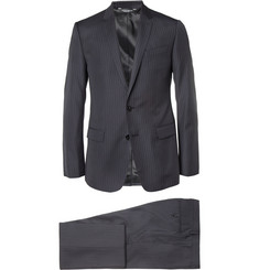 Dolce & Gabbana Navy Martini Pinstripe Wool and Silk-Blend Suit