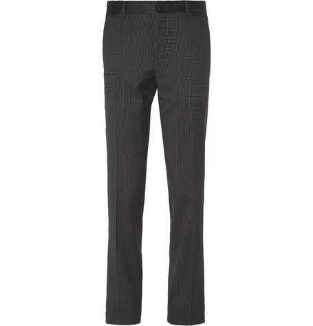 Dolce & Gabbana Slim-Fit Dotted Tuxedo Trousers