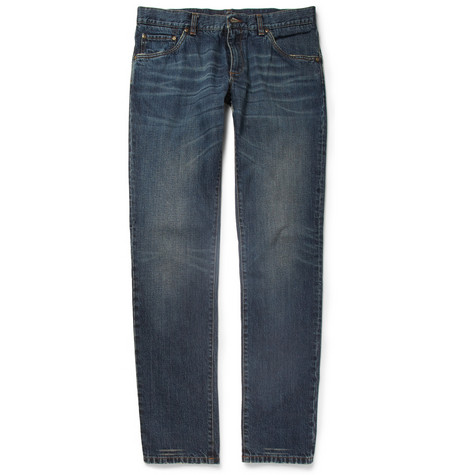Dolce & Gabbana Gold-Fit Washed Denim Jeans