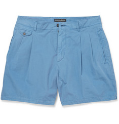 Dolce & Gabbana Double-Pleated Cotton Shorts