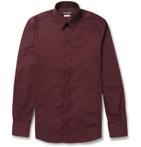 Dolce & Gabbana Sicilia-Fit Cotton-Blend Shirt