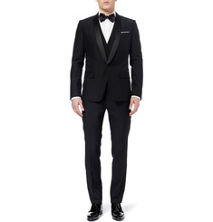 Dolce & Gabbana Martini Three Piece Wool-Blend Tuxedo